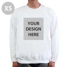 Sweatshirt Foto Vollbild Weiß Größe XS