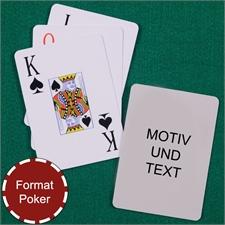Spielkarten Großdruck mit gestaltbarer Rückseite