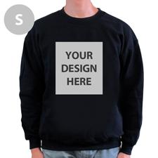 Sweatshirt Foto Vollbild Schwarz Größe S