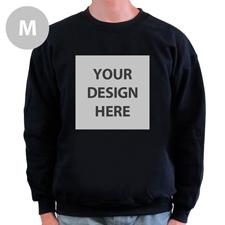 Sweatshirt Foto Vollbild Schwarz Größe M