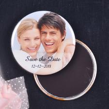Fotogalerie Hochzeit Runder Personalisierter Solider Magnetbutton