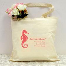 Seepferdchen Hochzeitstag Stofftasche Personalisieren