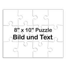 Personalisiertes Puzzle mit Hintergrund und Text auf 25,40x20,32 cm