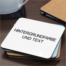 Hintergrundfarbe wählen Text eingeben Bierdeckel Personalisiertes Einzelstück