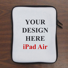 "Design iPad Air Sleeve Hochformat Personalisiert 11"" bzw 17,1 x 24,5 cm"