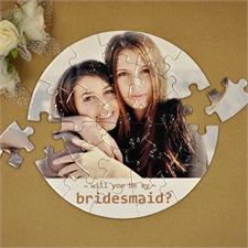 Brautjunger Rundes Puzzle Personalisieren Durchmesser 18,4 cm