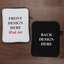 "Design iPad Air Sleeve Hochformat Beidseitig Personalisiert 11"" bzw 17,1 x 24,5 cm"