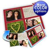 Individuelles Vier-Bilder-Collage-Puzzle in klassischem Rot - Ich liebe Dich