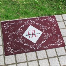 Buchstabe Personalisierte Fußmatte mit Initial