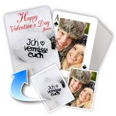 2-seitig individualisierbare Foto-Spielkarten, Valentinstag