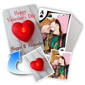 2-seitig individualisierbare Foto-Spielkarten, Valentinstag, modern