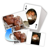 Valentin beidseitig individualisierbare ovale Foto-Spielkarten