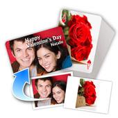 Zweiseitig individualisierbare einfache Spielkarten zum Valentinstag