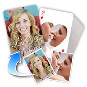 Personalisierte Vorder- und Rückseite Herzform-Spielkarten, Valentinstag