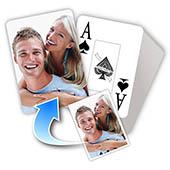 Großdruck Romantisches Kartenspiel zum Personalisieren
