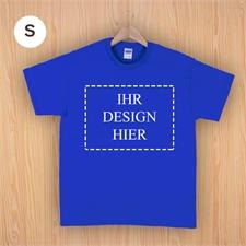 Größe S, T-Shirt, Blau Querformat, Personalisiert 100% Baumwolle