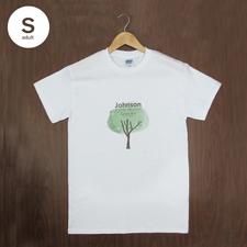Größe S T-Shirt Blau Hochformat Minibild Personalisieren 100% Baumwolle