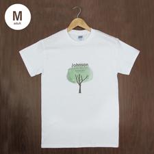 Größe M T-Shirt Silber Grau Hochformat Minibild Personalisieren 100% Baumwolle