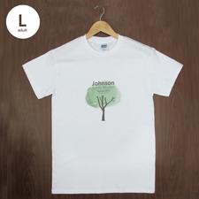 Größe L T-Shirt Silber Grau Hochformat Minibild Personalisieren 100% Baumwolle