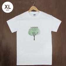 Größe XL T-Shirt Blau Hochformat Minibild Personalisieren 100% Baumwolle