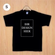 Größe S, T-Shirt, Schwarz, Hochformat, Personalisiert 100% Baumwolle