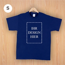 Größe S, T-Shirt, Navy, Dunkelblau, Hochformat, Personalisiert 100% Baumwolle