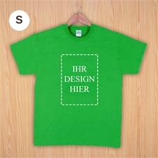 Größe S, T-Shirt, Grün, Hochformat, Personalisiert 100% Baumwolle