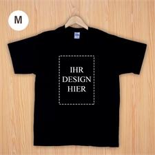 Größe M T-Shirt Schwarz Hochformat Personalisiert 100% Baumwolle