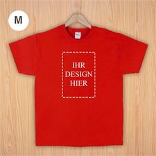Größe M T-Shirt Rot Hochformat Personalisiert 100% Baumwolle