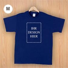 Größe M T-Shirt Navy Dunkelblau Hochformat Personalisiert 100% Baumwolle
