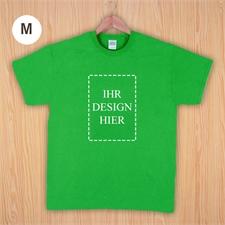 Größe M T-Shirt Grün Hochformat Personalisiert 100% Baumwolle