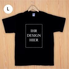 Größe L T-Shirt Schwarz Hochformat Personalisiert 100% Baumwolle