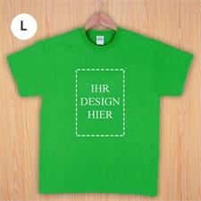 Größe L T-Shirt Grün Hochformat Personalisiert 100% Baumwolle