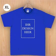 Größe XL T-Shirt Blau Hochformat Personalisiert 100% Baumwolle