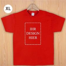 Größe XL T-Shirt Rot Hochformat Personalisiert 100% Baumwolle
