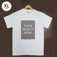 Größe XL T-Shirt Grau Hochformat Personalisiert 100% Baumwolle