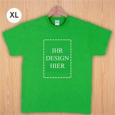 Größe XL T-Shirt Grün Hochformat Personalisiert 100% Baumwolle