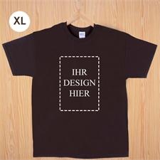 Größe XL T-Shirt Braun Hochformat Personalisiert 100% Baumwolle