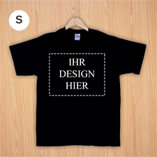 Größe S, Foto T-Shirt, Schwarz, Querformat, Personalisiert 100% Baumwolle