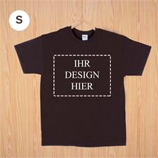 Größe S, T-Shirt, Braun, Querformat, Personalisiert 100% Baumwolle