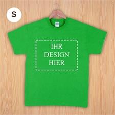Größe S, T-Shirt, Grün, Querformat, Personalisiert 100% Baumwolle