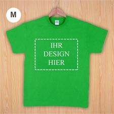 Größe M, T-Shirt, Grün, Querformat, Personalisiert 100% Baumwolle