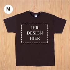 Größe M, T-Shirt, Braun, Querformat, Personalisiert 100% Baumwolle