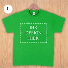 Größe L, T-Shirt, Grün, Querformat, Personalisiert 100% Baumwolle