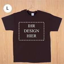 Größe L, T-Shirt, Braun, Querformat, Personalisiert 100% Baumwolle