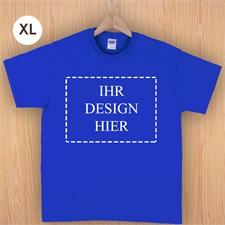 Größe XL, T-Shirt, Blau, Querformat, Personalisiert 100% Baumwolle