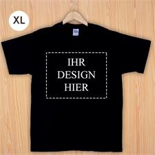 Größe XL, Foto t-shirt selbst gestalten und bedrucken, Schwarz, Querformat