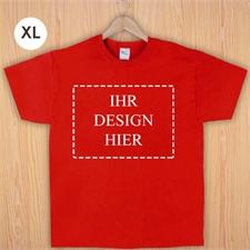 Größe XL, T-Shirt, Rot, Querformat, Personalisiert 100% Baumwolle