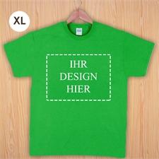 Größe XL, T-Shirt, Grün, Querformat, Personalisiert 100% Baumwolle