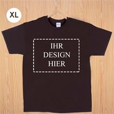 Größe XL, T-Shirt, Braun, Querformat, Personalisiert 100% Baumwolle